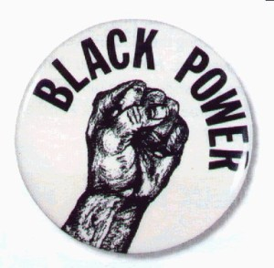 Black Power Pin