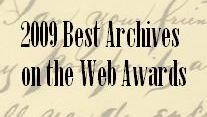 2009 Best Archives on the Web Awards