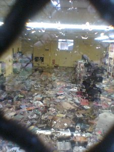 Damage at the Louisville Free Public Library